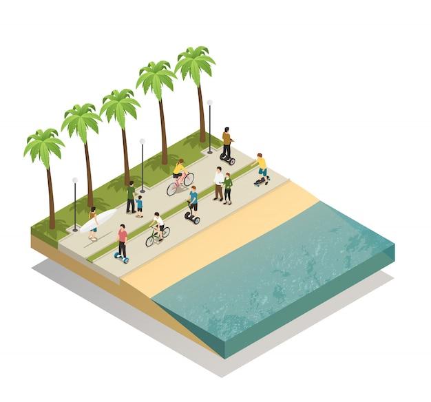 Öko-transport auf south beach