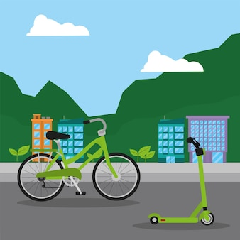 Öko-transporte in der stadt