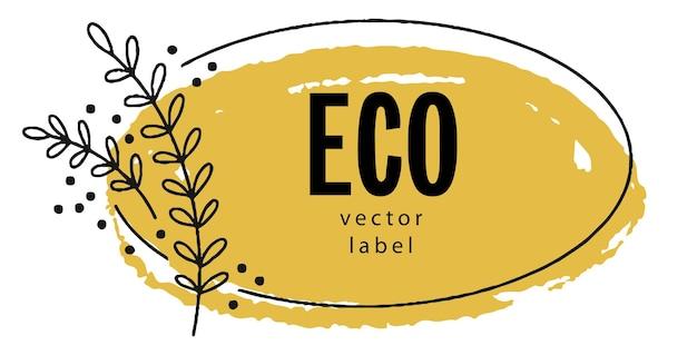 Öko und natürliches organisches und ökologisches produkt