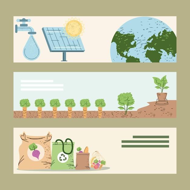 Öko- und umweltbanner