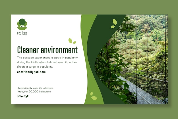 Ökologie-banner-vorlage Premium Vektoren