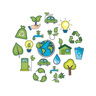 Ökologie erhaltung zum natürlichen umweltschutz