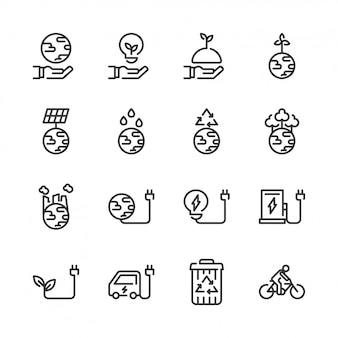 Ökologie-icon-set