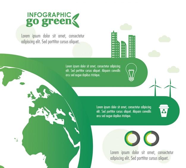 Ökologie infographik design