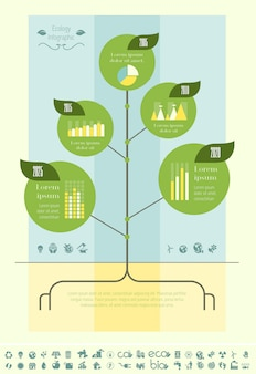 Ökologie infographik vorlage.