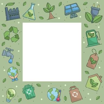 Ökologie quadratischer rahmen