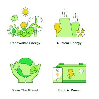 Ökologie set erneuerbarer energien kernenergie rettet den planeten
