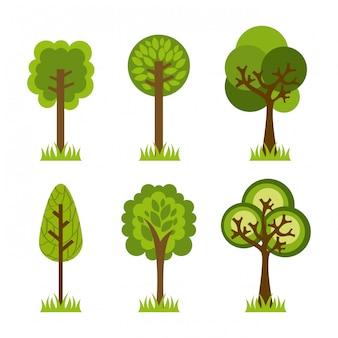Ökologiedesign über hintergrundvektorillustration