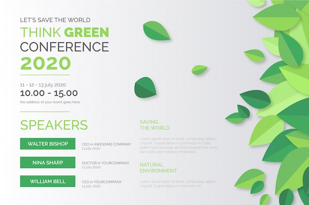 Ökologiekonferenz plakat vorlage