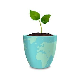Ökologiekonzept. tag der erde, weltumwelttag, rettung der erde oder grüner tag.