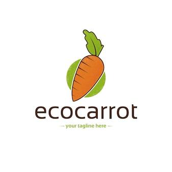 Ökologische karotten-logo-vorlage