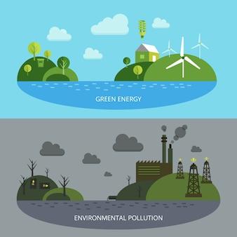 Ökologische klimaillustration