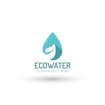 Ökologische water company logo-vorlage