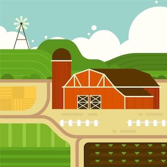 Ökologischer landbau konzept illustration