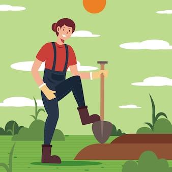 Ökologischer landbau-konzept