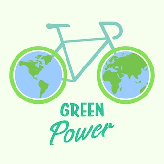 Ökologisches fahrrad