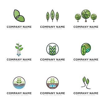 Ökologisches grünes logo gesetzt