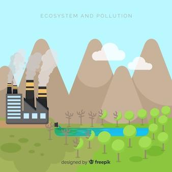 Ökosystem gegen verunreinigungshintergrund