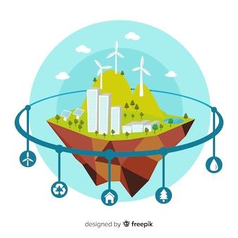 Ökosystem infografiken