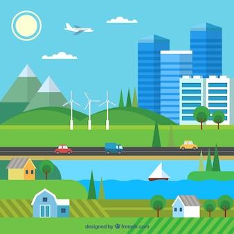 Ökosystemerhaltungszusammensetzung mit flachem design