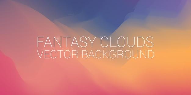 Öl-fantasie-wolken, die künstlerischen beschaffenheitshintergrund malen