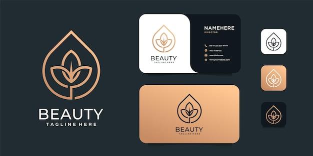 Öl olivenblume linie logo dekoration design-vorlage.