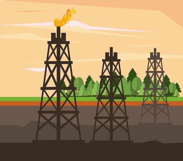 Öl- und erdölpumpe