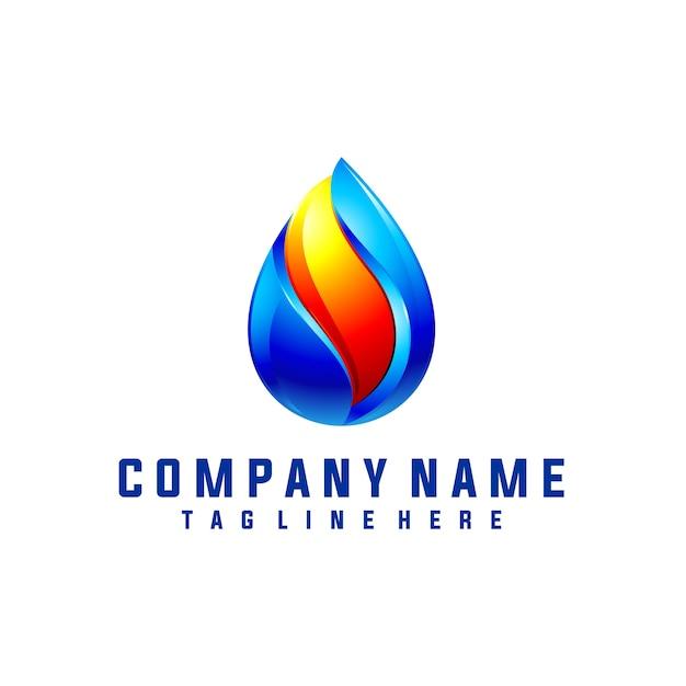 Öl und gas logo design mit 3d-look