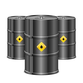 Ölfassillustration auf weißem hintergrund