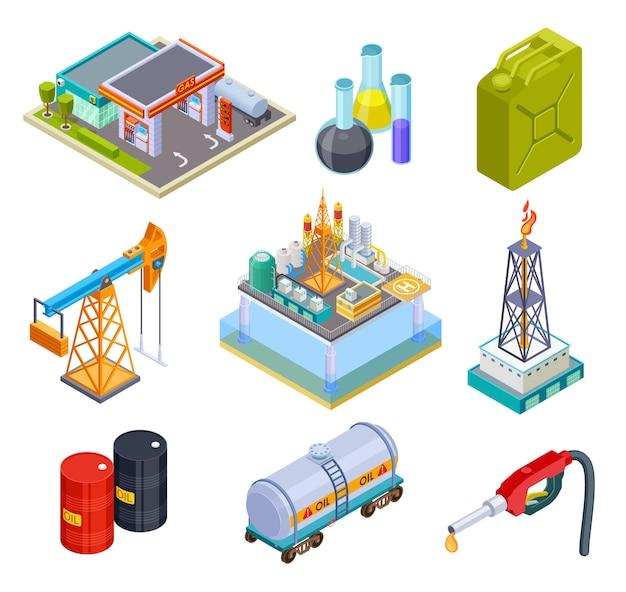 Ölgasindustrie isometrisch