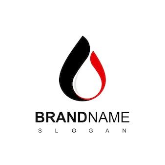 Ölgesellschaft-logo-design mit tropfen-wasser-symbol