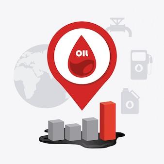 Ölindustrie design.