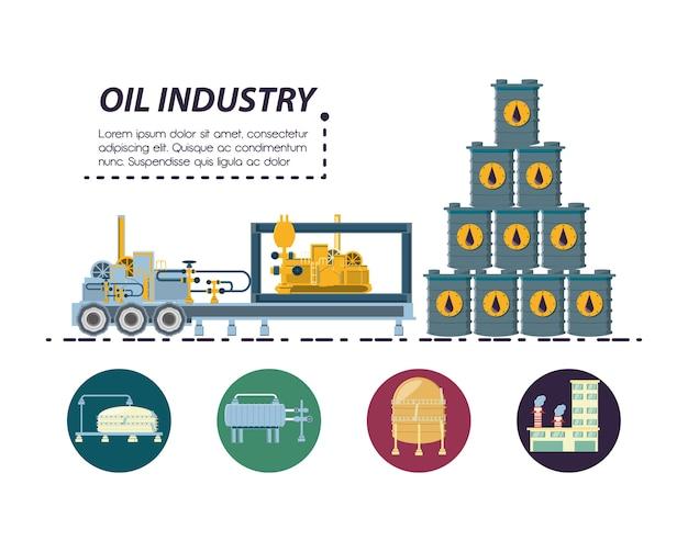 Ölindustrie mit raffinerieanlage