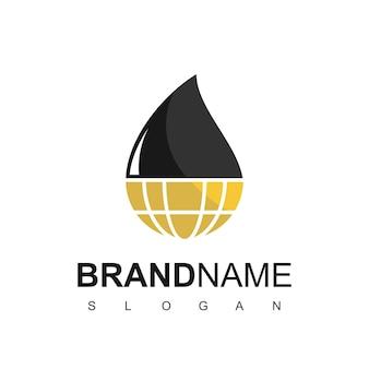 Ölindustrie und ölwelt logo-design-vorlage