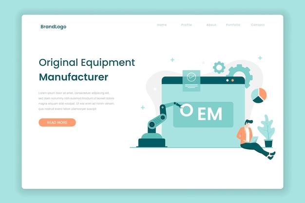Oem-zielseitenkonzept. illustration für websites, landing pages, mobile anwendungen, poster und banner.
