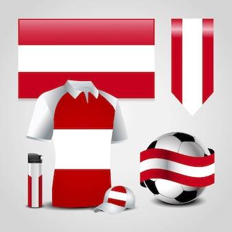 Österreich flagge design vektor
