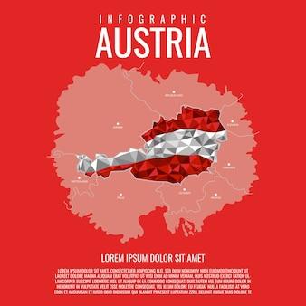 Österreich karte infografik