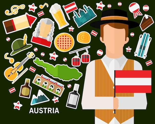 Österreich-konzept hintergrund