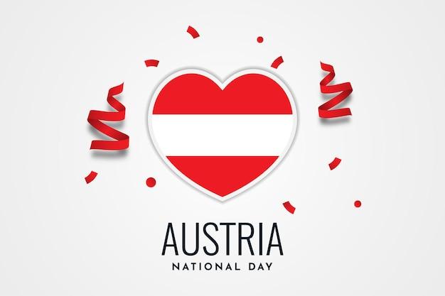 Österreich nationalfeiertag illustration vorlagendesign