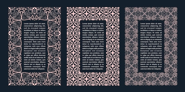 Östliche rahmen arabisches design