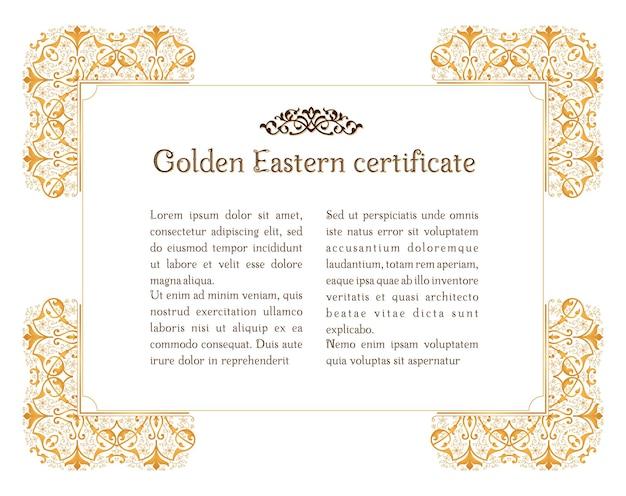 Östlicher goldener vintage-rahmen