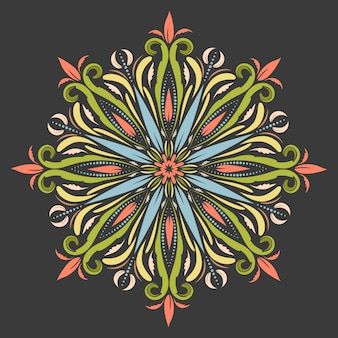 Östliches mandala im boho-stil