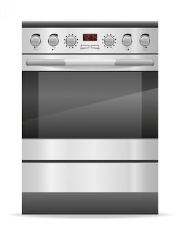 Ofen für küchenvektorillustration