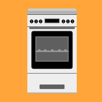 Ofenillustrationsgerät, das küche kocht. herd ausrüstung hausmannskost