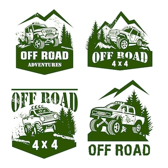 Off road logo vorlagensatz