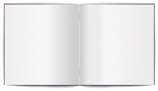 Offene broschüre mit weißen, sauberen blättern