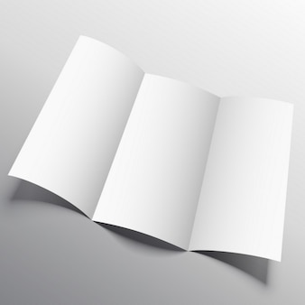 Offene broschüre, mock-up