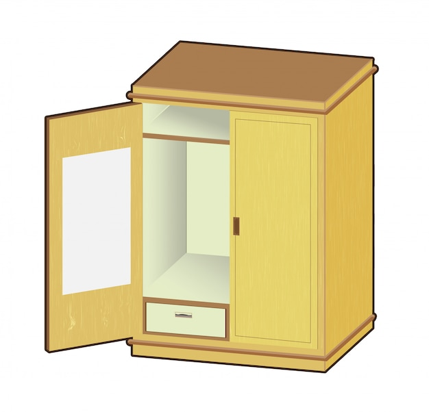 Offene garderobe illustration