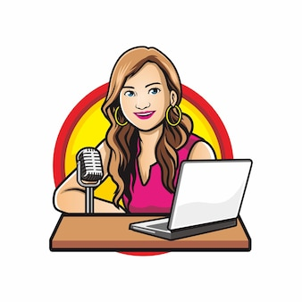 Offene podcast-frauen