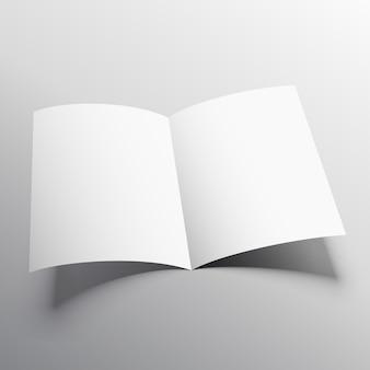 Offenes buch oder zweifach broschüre mockup vorlage